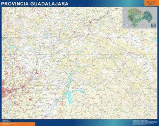 Mapa Provincia Guadalajara gigante
