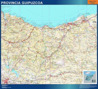 Mapa Provincia Guipuzcoa gigante