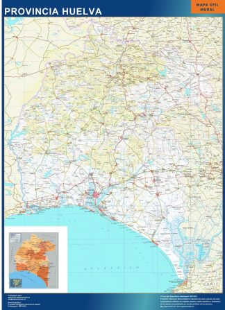 Mapa Provincia Huelva gigante