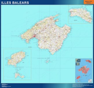 Mapa Provincia Islas Baleares gigante