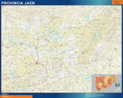 Mapa Provincia Jaen gigante