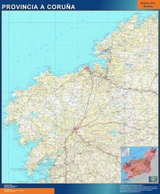 Mapa Provincia La Coruna gigante