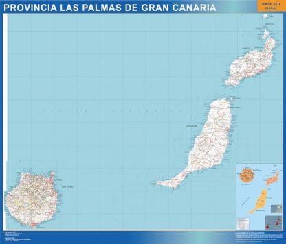 Mapa Provincia Las Palmas Gran Canaria gigante