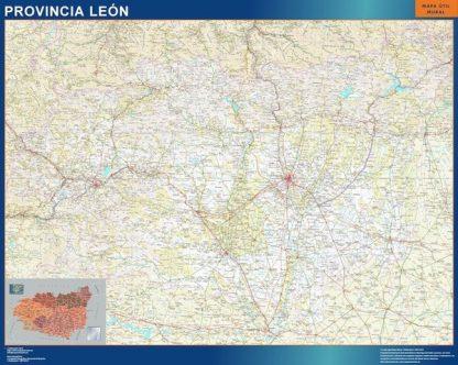 Mapa Provincia Leon gigante