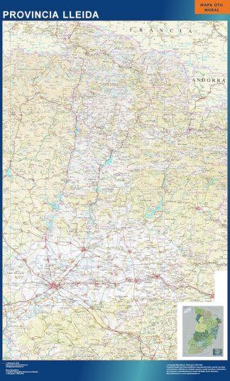 Mapa Provincia Lleida gigante