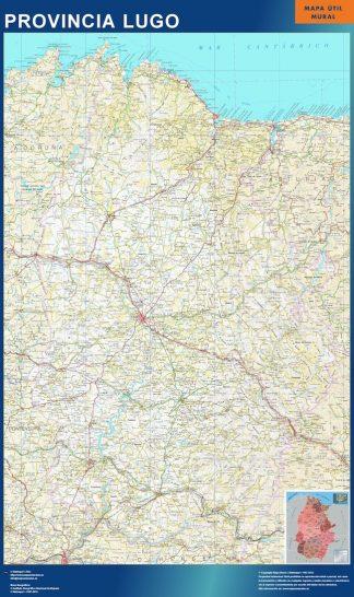 Mapa Provincia Lugo gigante