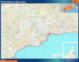 Mapa Provincia Malaga gigante
