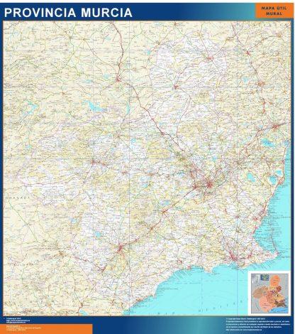 Mapa Provincia Murcia gigante
