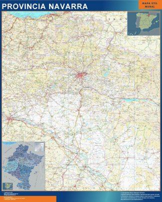 Mapa Provincia Navarra gigante