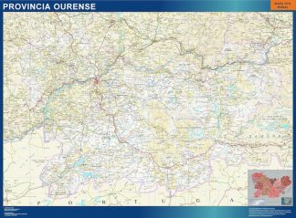 Mapa Provincia Ourense gigante