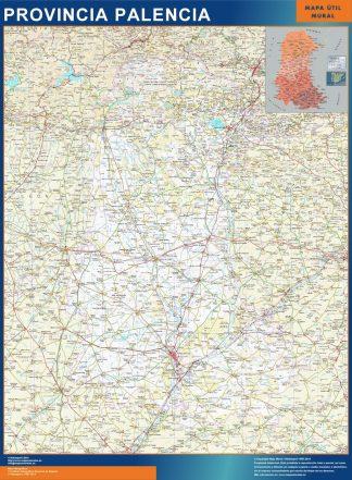 Mapa Provincia Palencia gigante