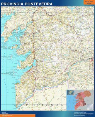 Mapa Provincia Pontevedra gigante