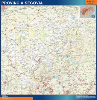 Mapa Provincia Segovia gigante
