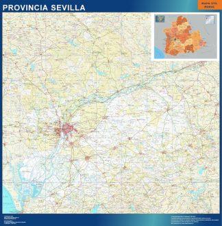 Mapa Provincia Sevilla gigante