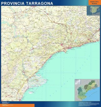 Mapa Provincia Tarragona gigante