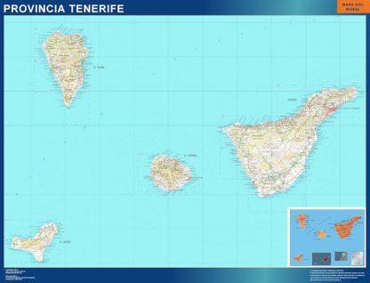 Mapa Provincia Tenerife gigante