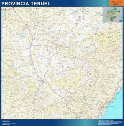 Mapa Provincia Teruel gigante