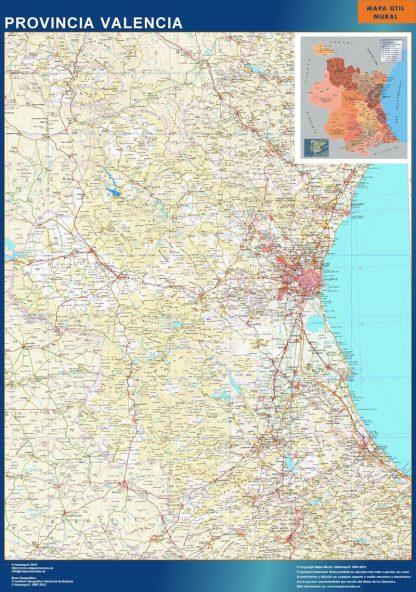 Mapa Provincia Valencia gigante