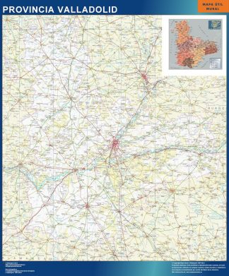 Mapa Provincia Valladolid gigante