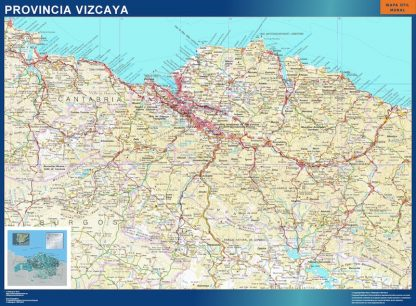 Mapa Provincia Vizcaya gigante
