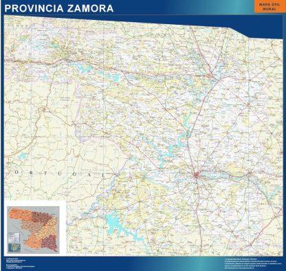 Mapa Provincia Zamora gigante