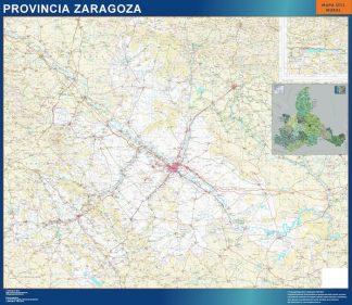 Mapa Provincia Zaragoza gigante