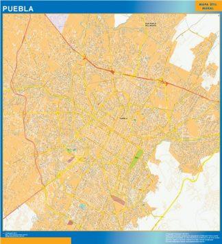 Mapa Puebla Centro en Mexico gigante