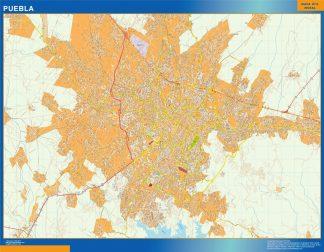 Mapa Puebla en Mexico gigante