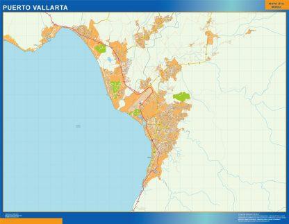 Mapa Puerto Vallarta en Mexico gigante