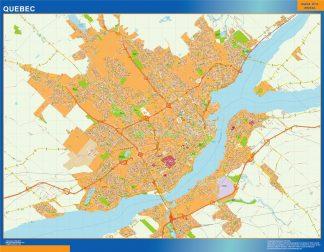 Mapa Quebec en Canada gigante