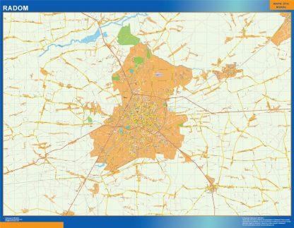 Mapa Radom Polonia gigante