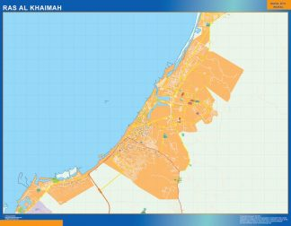 Mapa Ras Al Khaimah gigante