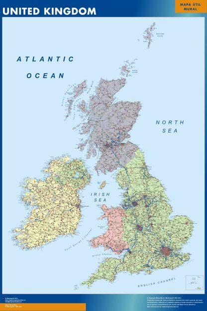 Mapa Reino Unido gigante