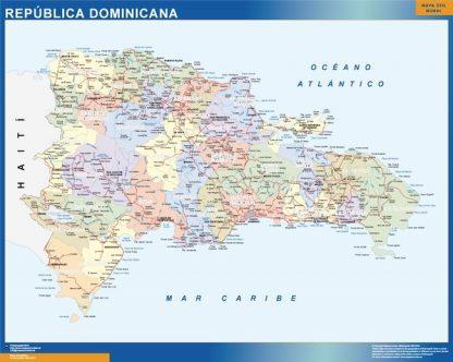 Mapa Republica Dominicana gigante