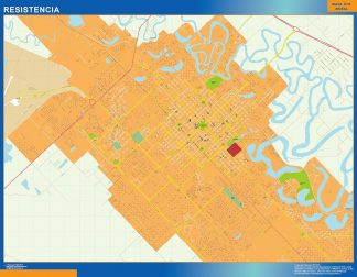 Mapa Resistencia en Argentina gigante