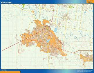 Mapa Reynosa en Mexico gigante