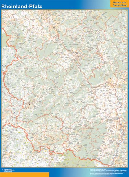 Mapa Rheinland-Pfalz gigante