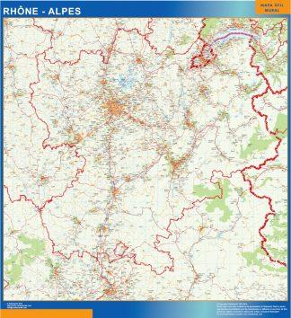 Mapa Rhone Alpes en Francia gigante