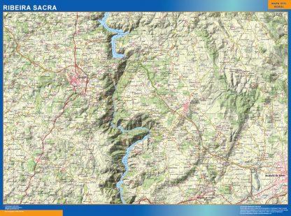 Mapa Ribeira Sacra gigante