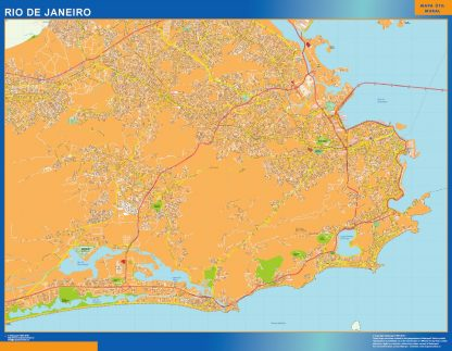 Mapa Rio de Janeiro Brasil gigante