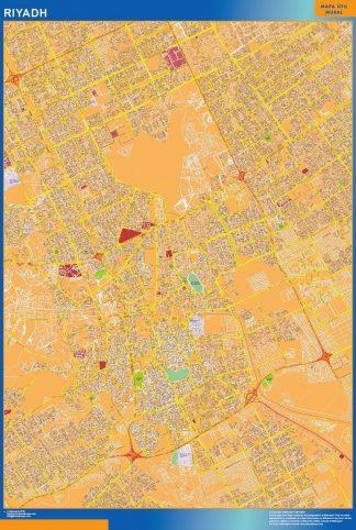 Mapa Riyadh en Arabia Saudita gigante