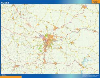 Mapa Rodez en Francia gigante