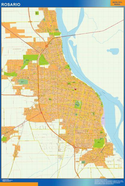 Mapa Rosario en Argentina gigante