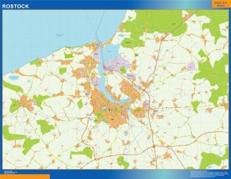 Mapa Rostock en Alemania gigante