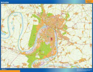 Mapa Rouen en Francia gigante