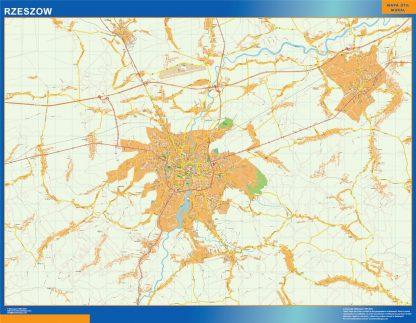 Mapa Rzeszow Polonia gigante