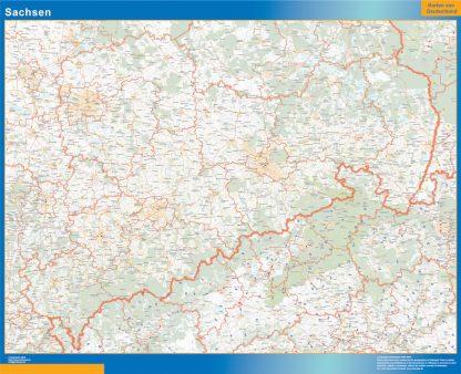 Mapa Sachsen gigante