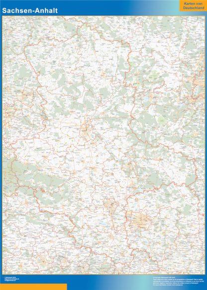 Mapa Sachsen-Anhalt gigante