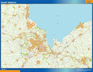 Mapa Saint-brieuc en Francia gigante