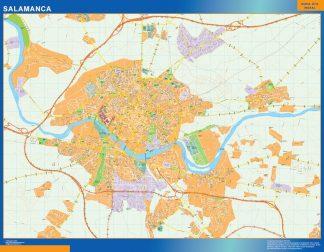 Mapa Salamanca callejero gigante